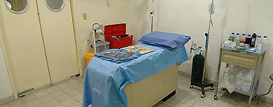 Enfermería de la plaza de toros de Aguascalientes.   M. C. Macías Zúñiga