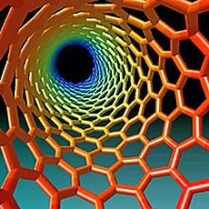 Recreación de un nanotubo de carbono