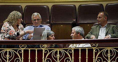 Los padres de Sandra Palo, Cristina Martín y Marta del Castillo, en el Congreso. | Efe