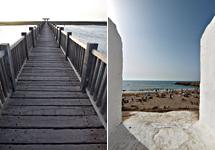 El parque de los Toruños, en Cádiz, y la ciudad costera de Asilah. | ELMUNDO.es
