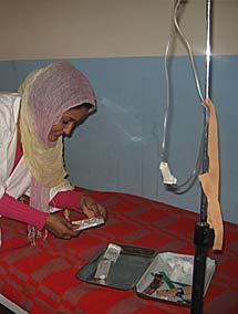 Una enfermera en el Hospital de Dajla. | R.Q