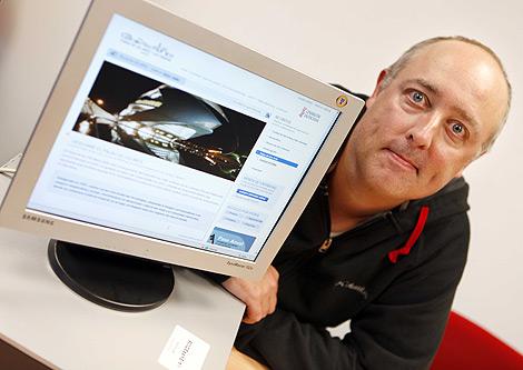Gary Arndt durante su visita a la redacción de EL MUNDO en Valencia | Vicent Bosch
