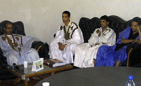 De izquiera a derecha, Mohammed Sulem, Mhamed Hali, Trathe Kamal, Rachid Mbark Baiti. | R. Q