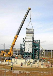 La planta en construcción.   C.S.