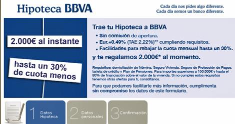 Campaña lanzada por BBVA exclusivamente a través de internet.