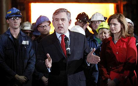 Brown, durante su intervención. | Reuters