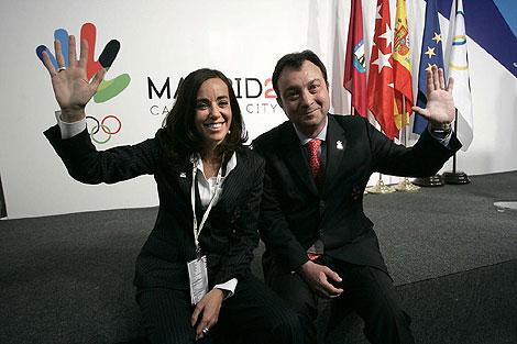 Mercedes Coghen junto a Manuel Cobo, defendiendo la candidatura olímpica en 2009.   D. Sinova