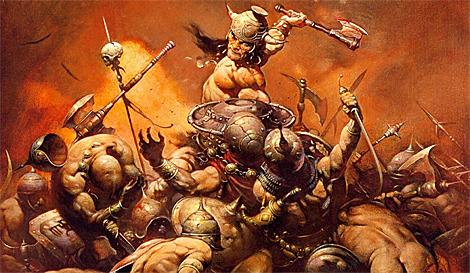 Conan el Bárbaro, en las manos de Frazetta.