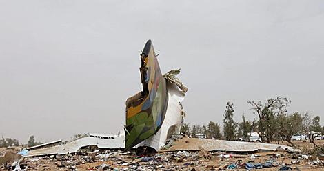 Restos del avión siniestrado en Libia esta semana. | Efe