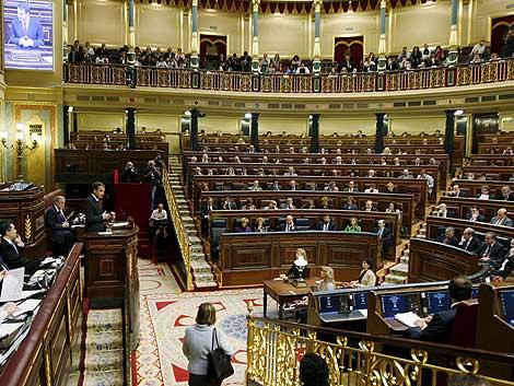 Zapatero, durante una comparecencia en el Congreso. | Efe