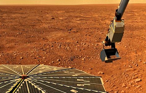 Brazo robótico del Phoenix Mars Lander.   NASA