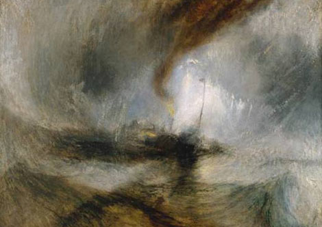 """""""Snow Storm-Steam-Boat off a Harbour's Mouth"""", de Turner (1842)"""