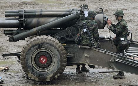 Militares surcoreanos en Paju, entre las dos Coreas. | Reuters