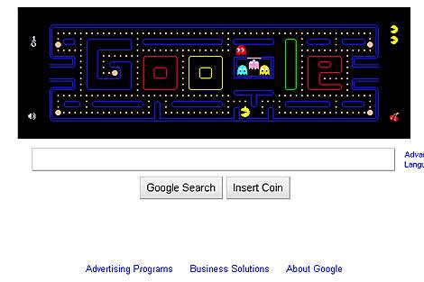 Imagen del Pac-Man de Google. | ELMUNDO.es
