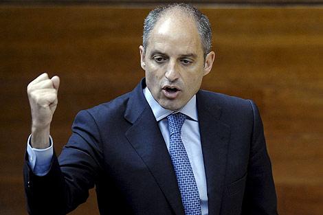 Francisco Camps durante la sesión de control parlamentario de este jueves | Efe