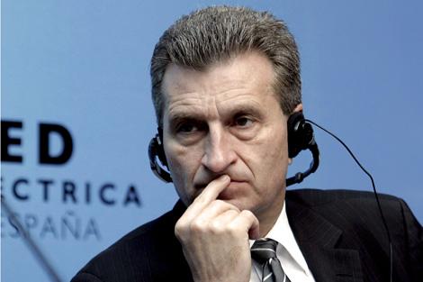 El comisario Oettinger. | EFE