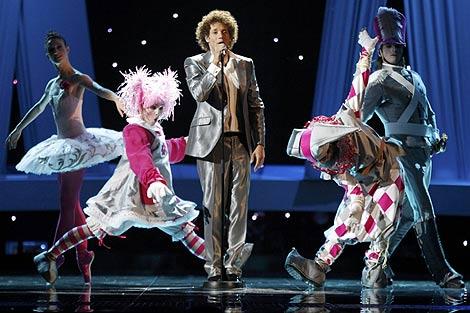 Daniel Diges, durante su actuación en el ensayo. (Foto: Reuters)