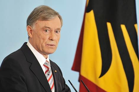 El ya ex presidente alemán, Horst Köhler, durante una conferencia en Berlín. | Afp