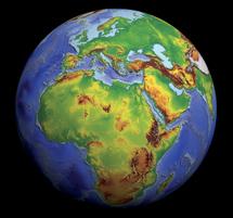La Tierra sin nubes. | ESA-NOAAD/DMU