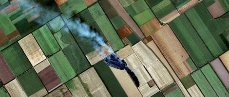 Cultivos en Francia. | European Space Imaging.