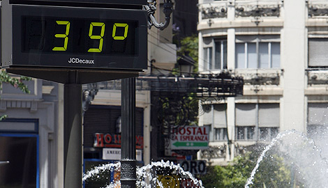 Un termómetro en Valencia ciudad. | José Cuéllar