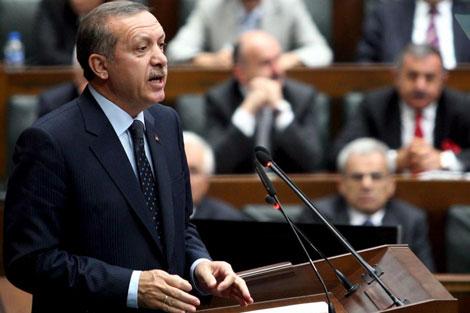 Erdogan, en el Parlamento de Ankara.   Efe