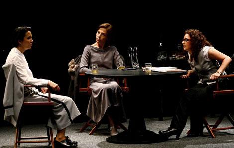 Las tres protagonistas sobre el escenario. | Casa Sefarad - Israel
