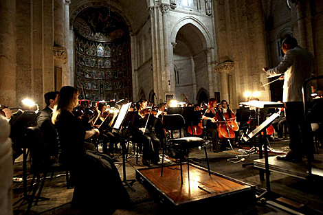 La Sinfónica de Castilla y León, en unaa actuación en la Catedral de Salamanca. | Efe