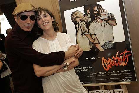 Eusebio Poncela y Marta F. Muro, en la presentación del DVD, en 2008. | Diego Sinova