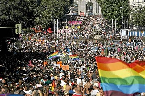 Imagen del desfile del Orgullo Gay en Madrid el pasado año. | Alberto Di Lolli