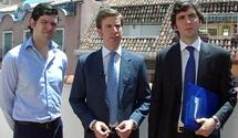 Pablo Callejo, Ramón Ferraz y Germán Martínez, los impulsores de la idea.