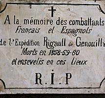 Lápida de recuerdo a los soldados. | Efe