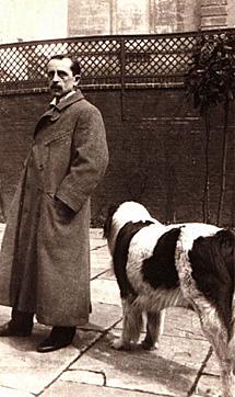 Barrie y su perro Porthos