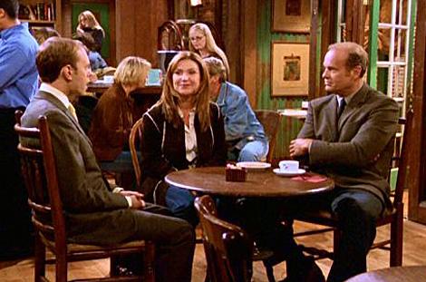Frasier Crane en su cafetería preferida.