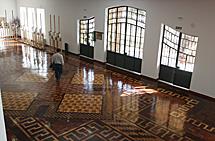 Impresionante suelo del pabellón de Brasil.