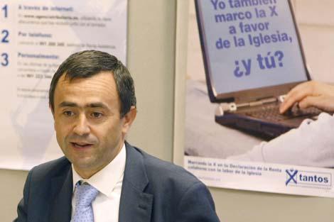 Fernando Giménez en la presentación de los resultados ante los medios de comunicación. | Efe