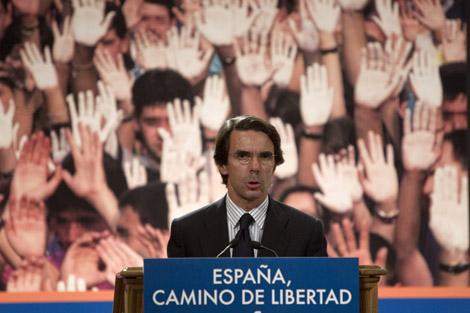 Aznar, recientemente en Madrid. | Alberti Di Lolli