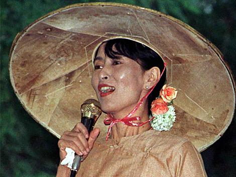 Aung San Suu Kyi, en una imagen sin fechar en Rangún.
