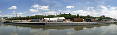 Panorámica de la Villa Solar, en la ribera del río Manzanares. | Óscar Monzón