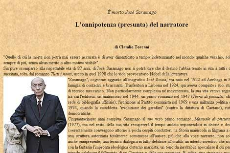 Imagen del artículo en la página web del Vaticano.