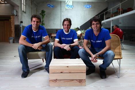 Juan Urdiales, Felipe Navío y Tabi Vicuña, cofundadores de 'jobandtalent'.