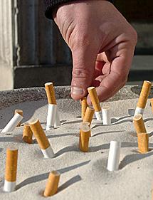 Cigarros apagados.   Efe