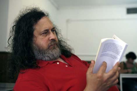 Stallman ha estado en Málaga ofreciendo una conferencia. | Jesús Domínguez