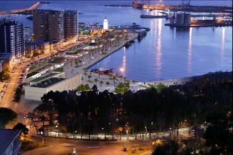 Recreación del edificio integrado en el puerto. | ELMUNDO.es