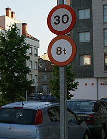 El 70% de las calles ya están limitadas. M.M.