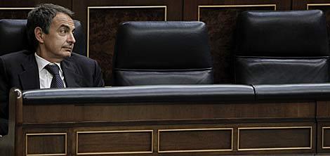 Zapatero, ayer en el Congreso de los Diputados. | Alberto Di Lolli