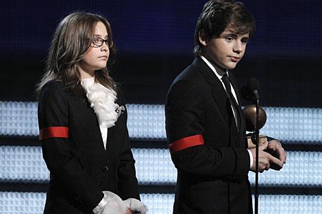 Paris y Prince Michael I, en la ceremonia de los Grammy el pasado enero. | AP