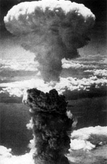 Explosión de la bomba atómica sobre la ciudad de Hiroshima.   E. M.