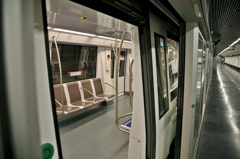 Uno de los trenes automatizados que cubrirán el nuevo tramo.| Efe