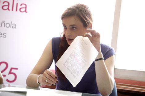 Alexia, durante la rueda de prensa. | Óscar Monzón
